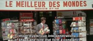 Pierrot le Fou. Dir. Jean-Luc Godard. Perf. Jean-Paul Belmondo, Anna Karina, Graziella Galvani. 1965.