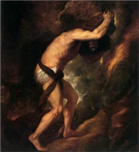 Titan. Sisyphus. 1549. Museo Del Prado, Spain.