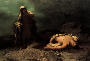 Antigone mourns the death of her brother, Polynices.