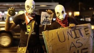"""Ferguson Protestors """"Hands Up Don't Shoot"""" http://viasat1.com.gh/vone/news/international.php?postId=2413"""