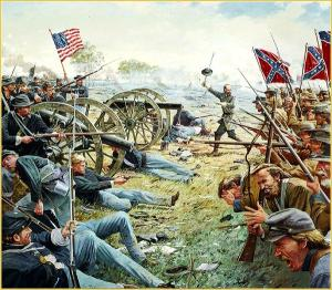 An artists depiction of the Gettysburg battle, one of the worst in the American Civil war Source: prx.org