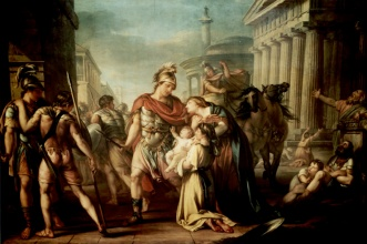 Hector abandons wife, Andromache, and son to go fight in the Trojan War