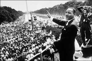 "In ""I Have a Dream,"" King expresses his faith that equality will be achieved."