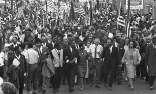 "King's ""Selma"" speech occurred at the end of a peaceful demonstration... King believed in protest as a democratic tool."