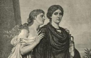 Sisters Ismene and Antigone