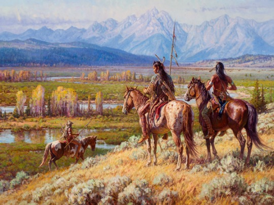 "Martin Grelle, ""Scouts on the Buffalo Fork"""