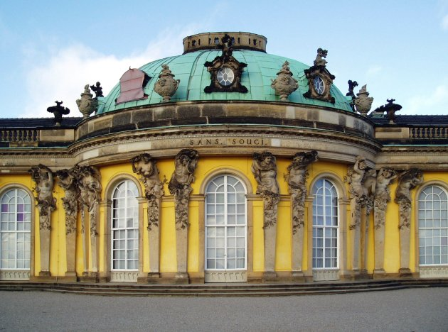 Sanssouci, the summer palace of Frederick the II, King of Prussia at Potsdam often counted among the German rivals of Versailles.