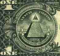 "The motto ""novus ordo seclorum,"" as seen on the dollar bill Source: genius.com"