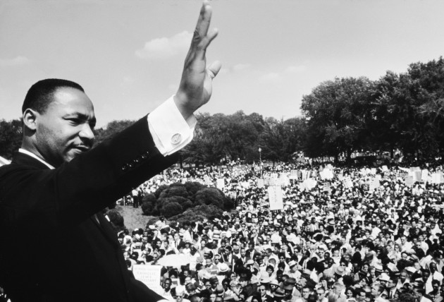 "Dr. Martin Luther King Jr. delivering his ""I Have a Dream"" speech from the steps of the Lincoln Memorial.(Photo credit to Life magazine.)"