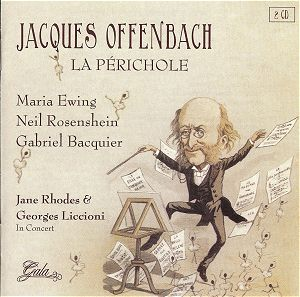 Jacques Offenbach dancing his famous can can dance from the opera Orphee Aux Enfers.