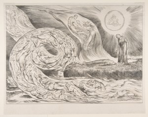 The Circle of the Lustful: Paolo and Francesca, from Dante's Inferno, Canto V by William Blake  (c. 1826)