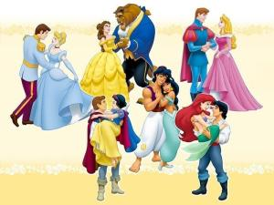 Some of the earlier princesses with their respective princes (source: fanpop.com)