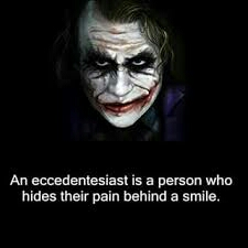 -Smiling depression is much like a Glasgow smile: A painful fake smile. Heath Ledger, Joker, Smiling Depression. Digital image. Facebook. Facebook, n.d. Web 4 Dec. 2015